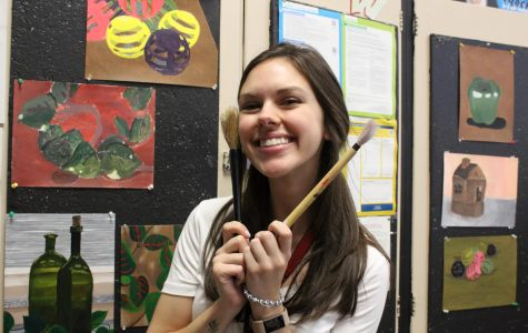 Ms. Schwartzstein is one of the school's new art teachers. She used to be a long term substitute at East Brunswick High School.