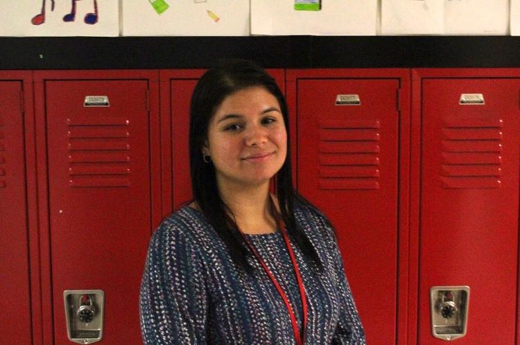 Señorita Rivera is teaching Spanish in the D-wing block 3. Señorita Rivera used to teach ESL in an elementary school.