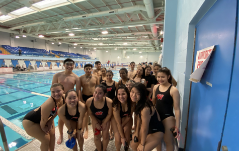 The Woodbridge High School swim team is anticipating their first meet. They participated in the Marisa's Minnows charity swim practice.