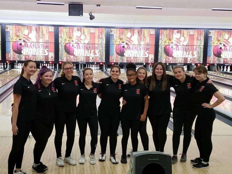 Woodbridge Girls Bowling team at the Marisa Tufaro bowling tournament. They raised over $3,600.