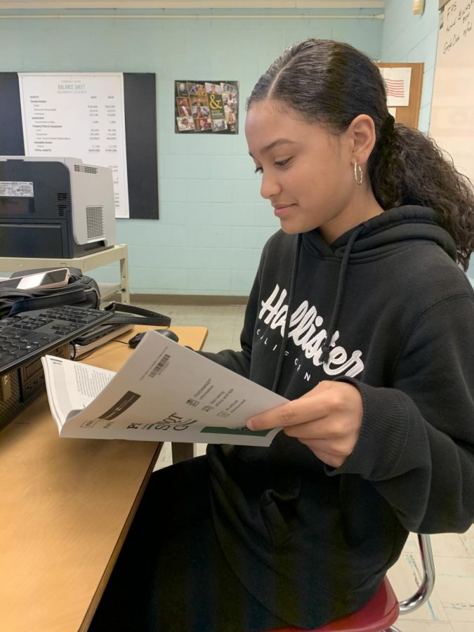 Isabel Marte, a junior at WHS, was preparing for the SAT early.