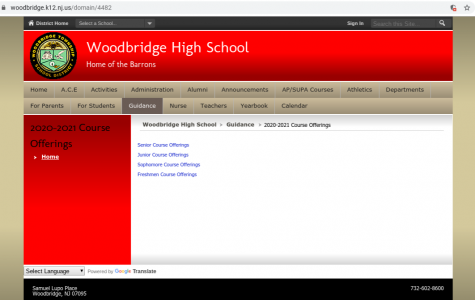 The course offerings in the next school year for each grade can be found on the Woodbridge High School website under the Guidance tab. Ms. Ferrara said that these new courses are